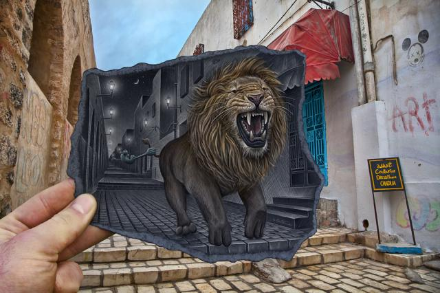 Лев в городе