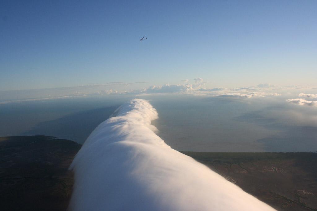 Кроме указанного залива, «глория» наблюдалась также над проливом Ла-Манш