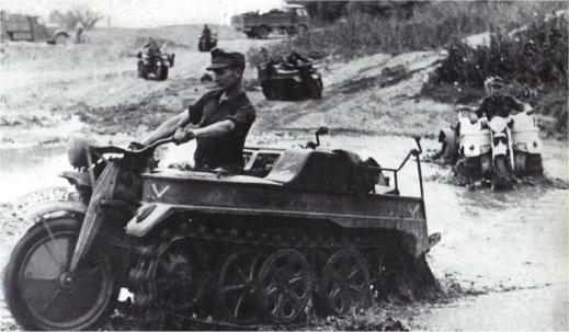 Kettenkrad - немецкий военный мотоцикл на гусеницах