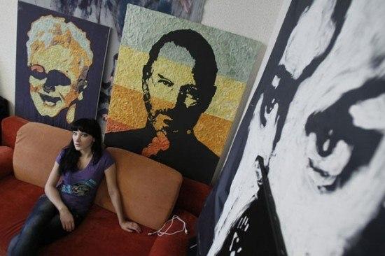 портрет основателя компании Apple Стива Джобса