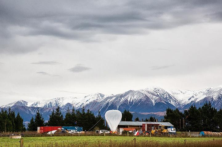 Так наполняется шар проекта Loon перед своим запуском в Новой Зеландии