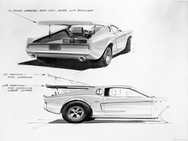 Хорошая, красивая машинаMustang Mach так никогда не вошла в серийное производство не смотря на все свои внешние достоинства.
