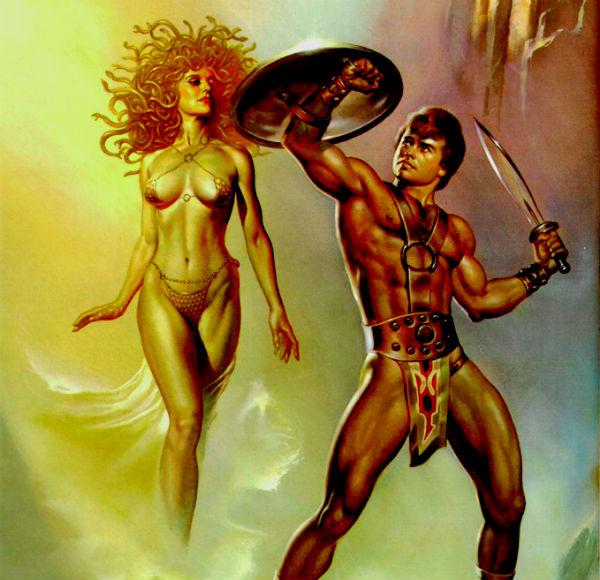 Обменяв «драгоценности» на шапку-невидимку Аида, волшебный мешочек, крылатые сандалии и узнав дорогу к горгонам, Персей отправился в дальний путь.