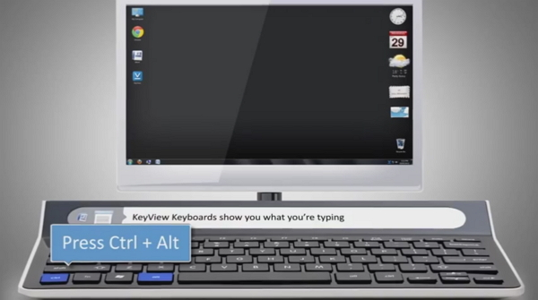 напечатанные символы синхронно отображаются на маленьком встроенном экранчике.