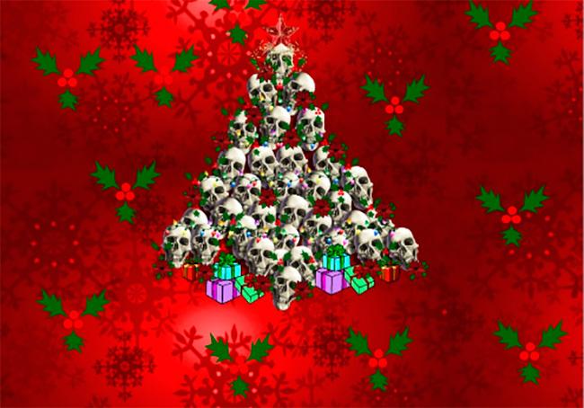 Черные кошки вместо Деда мороза, грустные девочки с режущими инструментами — у всех должен быть праздник.