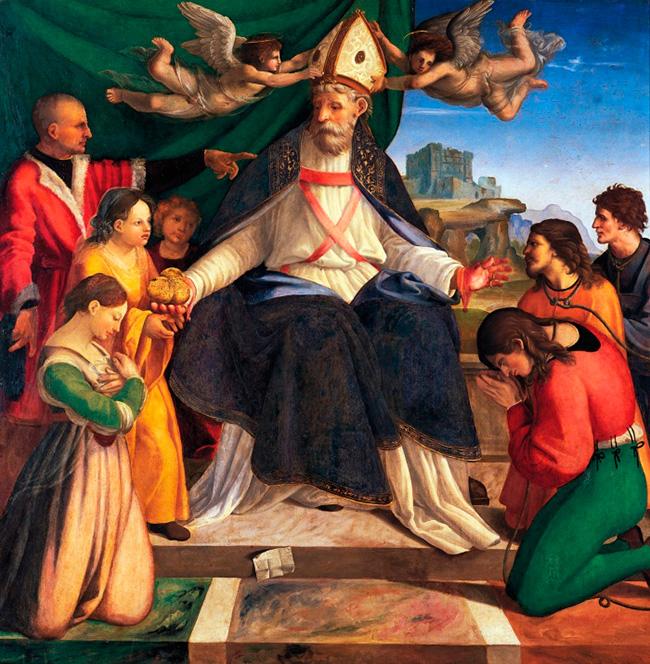 Интронизация Святого Николая в Бари Андреа Сабатини, 1514)