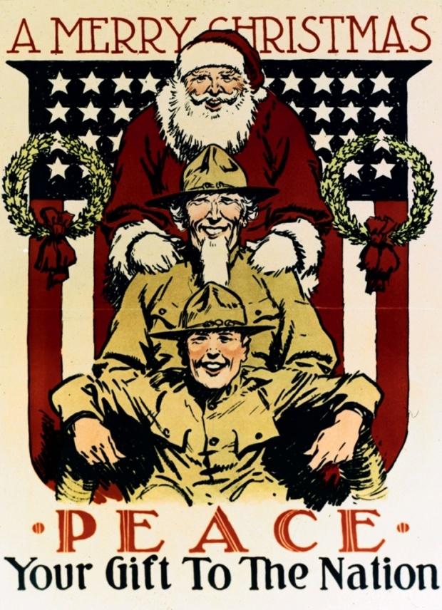 Санта отправляется на войну. В компании с дядей Сэмом и простым солдатом 1918