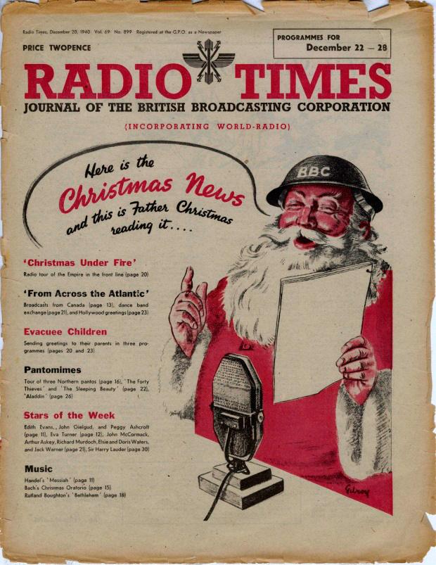 Первое упоминание о Санте, в рекламе, посвященной радио
