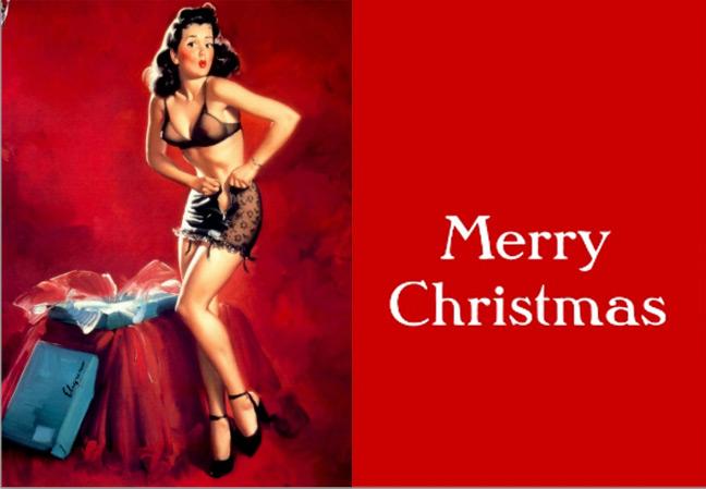 Для тех, кто привык к Дед Морозам, Санта Клаусам , Снеговикам и елочным игрушкам, тема Рождества с тиле пин ап возможно покажется кощунственной.