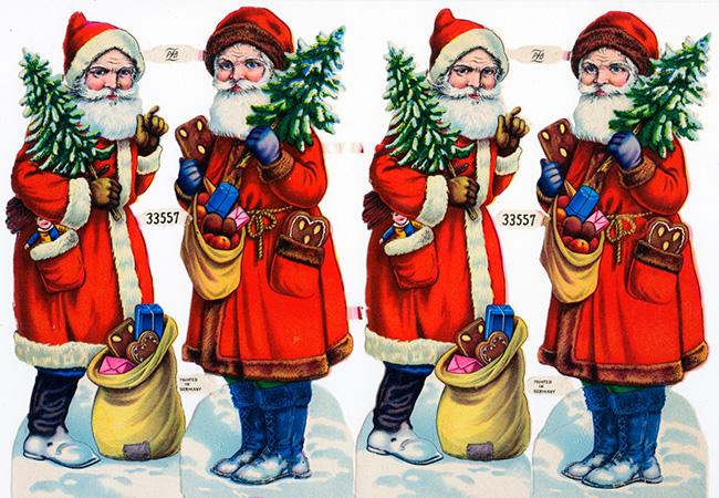 Бумажные Санта Клаусы Германия, 19 век