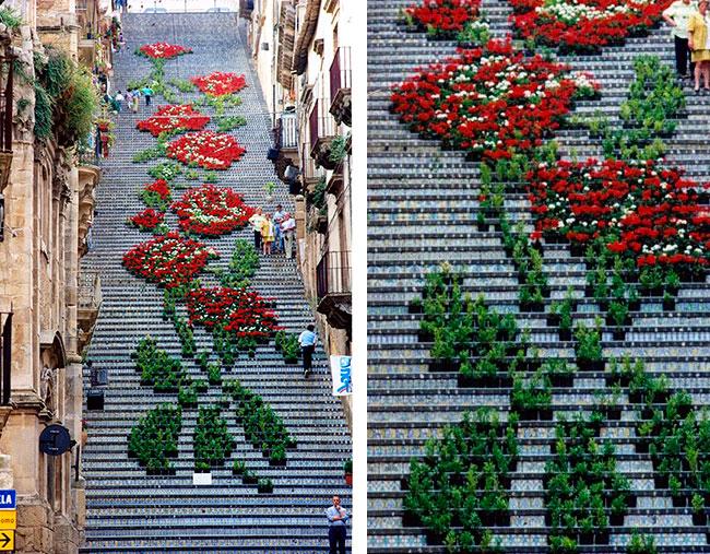 Во всех уголках мира уличные художники превращают ступеньки в настоящие произведения искусства