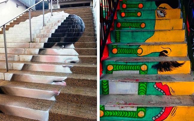 ступеньки- настоящие произведения искусства