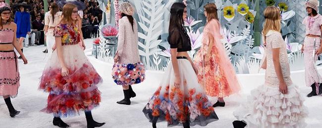 Неделя высокой моды в Париже: тропический сад от Шанель