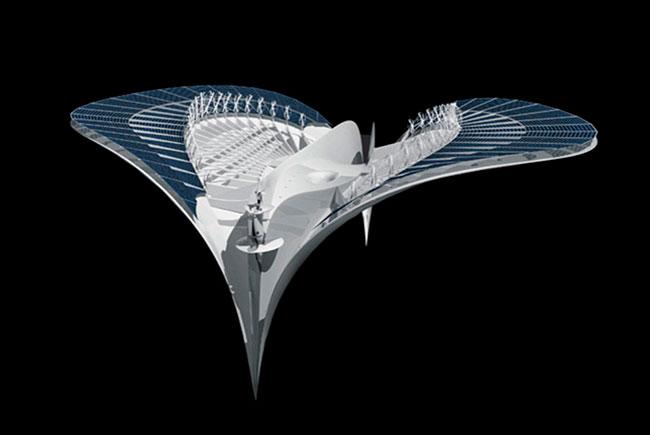 Французский архитектор Жаком Ружери «пофантазировал» на тему студенческого городка и создал проект, в котором студенты и преподаватели живут в плавучем городе City of Meriens (город любителей моря).