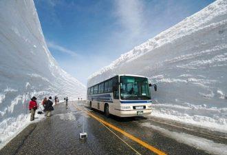 Дороги среди снежных стен