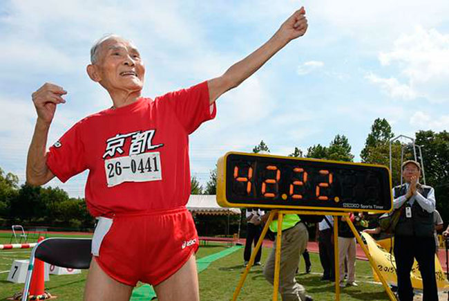 Хидекичи Миядзаки – 105-летний японский спринтер