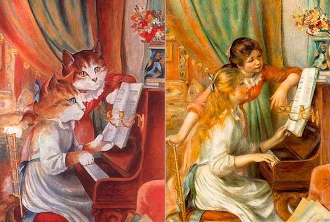 Девушки за фортепиано. Ренуар