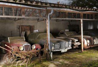 На аукционе в Париже распродали уникальные ретроавтомобили.