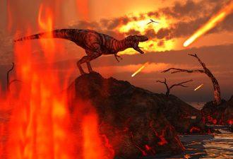 Исследователи: динозавров уничтожили астероиды и вулканы