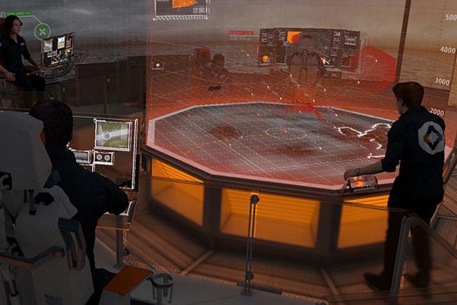 Операционный зал — предполагаемый центр военного корабля