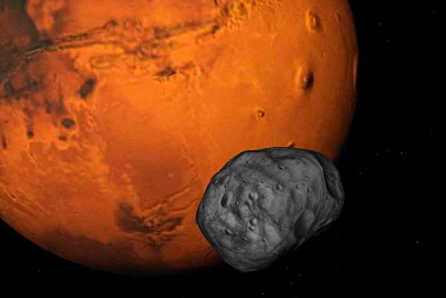 Япония намерена в 2022 году получить грунт с одного из спутников Марса