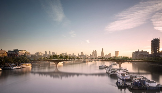 Изначально идея возведения моста как дань памяти покойной принцессы Дианы) возникла у британской актрисы Джоаны Ламли, которой она и поделилась с архитектором впервые еще в 2012 году.