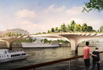 В Лондоне построят мост-сад