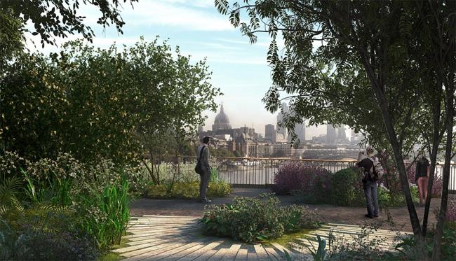 Проект зеленого моста-сада был разработан британским в архитектурной студии Томаса ХизервикаThomas Heatherwick), известного по работе над лондонскими олимпийскими объектами и недавно представившим «плавучий остров» на реке Гудзон Нью-Йорк).