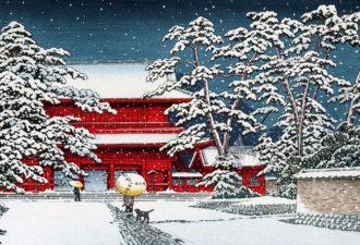 Рождество в Японии. Старинные открытки