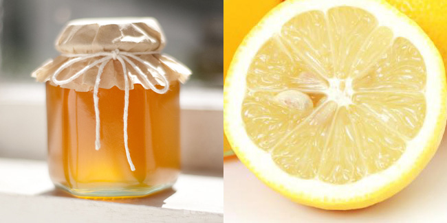 Лимонный мед: при простуде.