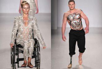 Неделя моды в Нью-Йорке: на подиуме модели в инвалидных колясках