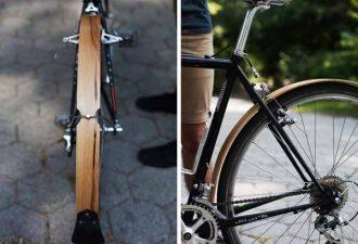 Велосипедные крылья из дерева