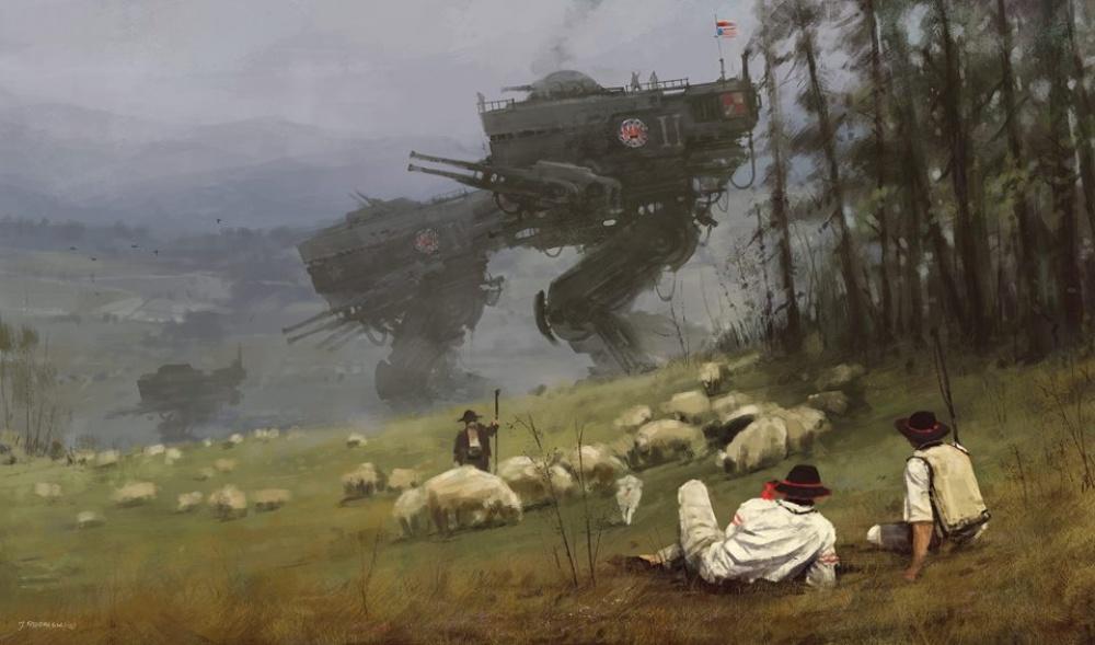 Его удивительные картины отличает от всех остальных тонкая нить переплетения прошлого, будущего и настоящего.