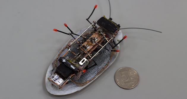 у робота-таракана есть специальное крепление, с помощью которого его можно снабдить камерой