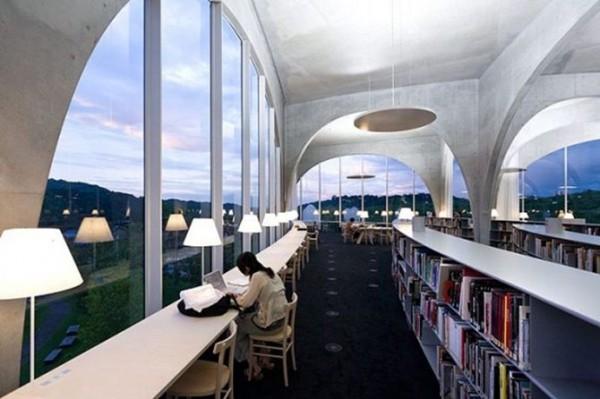 Библиотека университета искусств в Токио, Япония