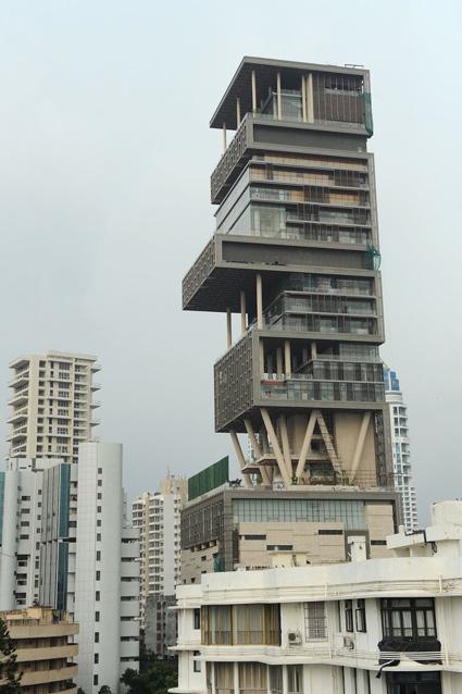 Частный дом Антилия, в Мумбаи
