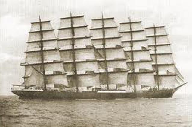 Пятимачтовый корабль Преуссен (Preuben)